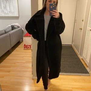 Missguided Jackets & Coats - Black Chunky Borg Teddy Coat